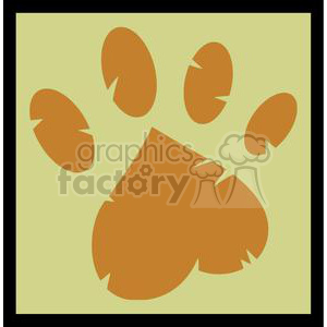 2575-Royalty-Free-Paw-Print clipart. Commercial use image # 379892