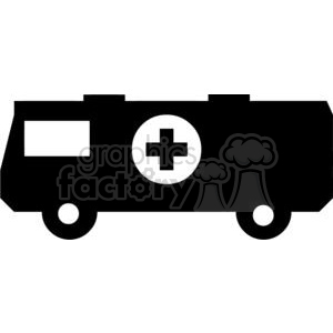 Medic vehicle Silhouette clipart. Commercial use image # 379917