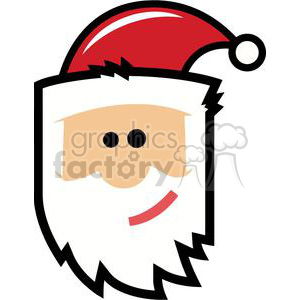Royalty Free Cartoon Santa Claus Head