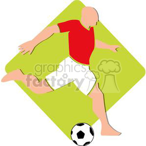 2498-Royalty-Free-Soccer-Player-With-Balll clipart. Royalty-free image # 379937