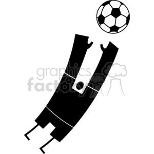 2515-Royalty-Free-Abstract-Silhouette-Soccer-Player-With-Balll clipart. Commercial use image # 379942
