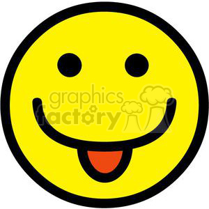 2698-Royalty-Free-Single-Emoticon-Tongue-Out clipart. Royalty-free image # 379952