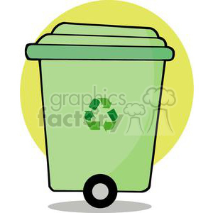 go green can with a go green symbol  clipart. Royalty-free image # 379957