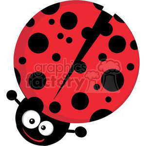 Royalty Free Ladybug Cartoon Character clipart. Royalty-free image # 379962