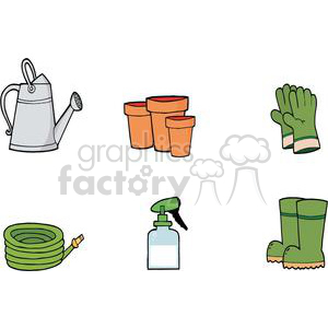 2453-Royalty-Free-Gardening-Tools-Set clipart. Royalty-free image # 380012