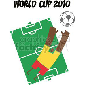 2527-Royalty-Free-Abstract-Soccer-Player-With-Balll-In-Front-Of-Stadium-Text clipart. Commercial use image # 380017