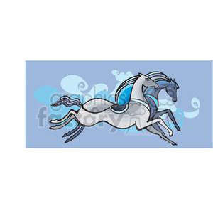 blue dream horse animation. Royalty-free animation # 380044