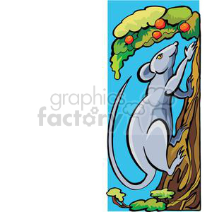 rat climbing a tree clipart. Commercial use image # 380049