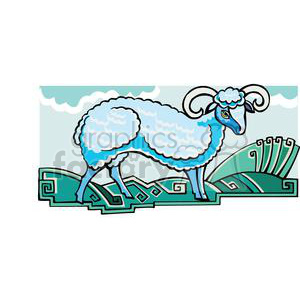 ram clipart. Royalty-free image # 380054