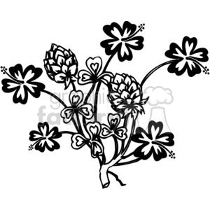 72-flowers-bw clipart. Commercial use image # 380079