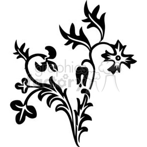 34-flowers-bw clipart. Royalty-free image # 380099
