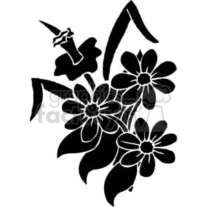 55-flowers-bw clipart. Royalty-free image # 380144