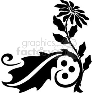 18-flowers-bw clipart. Royalty-free image # 380149