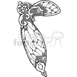 cartoon fairy wing clipart. Royalty-free image # 380194