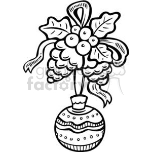 Christmas decorations clipart. Commercial use image # 381114
