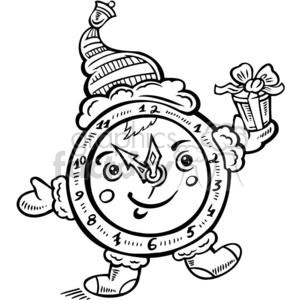 Christmas clock clipart. Commercial use image # 381139