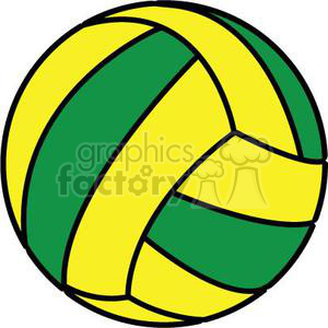 volleyball green yellow clipart. Commercial use image # 381157
