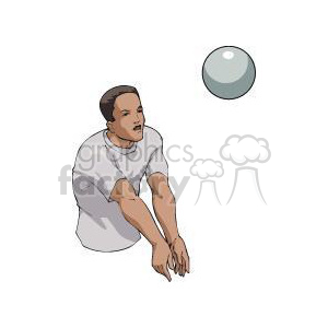 guy hitting a volleyball clipart. Commercial use image # 381166