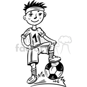 young boy soccer player clipart. Royalty-free image # 381515