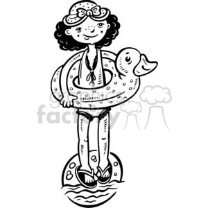 girl swimming clipart. Commercial use image # 381525