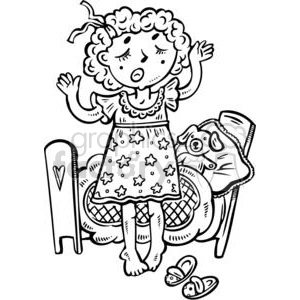 tired child clipart. Commercial use image # 381540