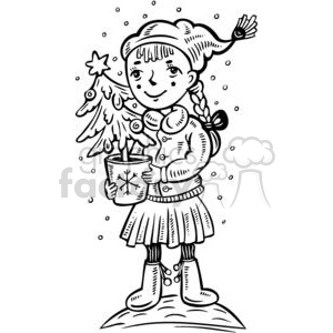 cartoon-children 022 clipart. Royalty-free image # 381555