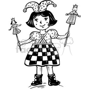 child dressed in as a Jester  clipart. Royalty-free image # 381560
