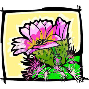 cactus flower clipart. Royalty-free image # 152043