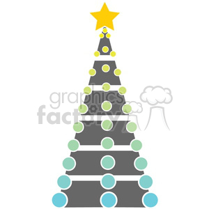 gray Christmas tree design clipart. Royalty-free image # 383684