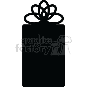 black Christmas gift clipart. Royalty-free icon # 383694