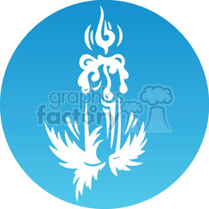 Christmas candle icon clipart. Royalty-free image # 383699
