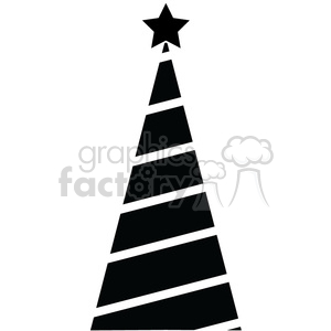 black Christmas tree design clipart. Royalty-free image # 383719