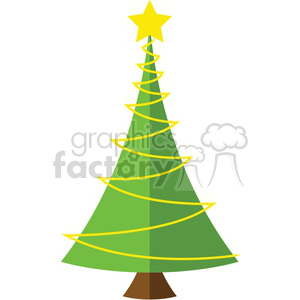 cute Christmas tree design clipart. Royalty-free image # 383734