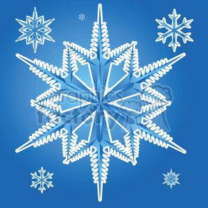 vector snowflakes animation. Royalty-free animation # 383739