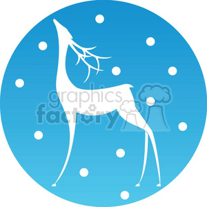 Christmas deer icon clipart. Royalty-free image # 383744