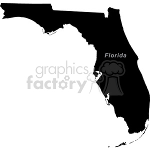USA United States black white vector outline America FL Florida