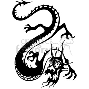 chinese dragons 007 clipart. Royalty-free image # 383848