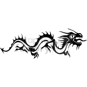 chinese dragons 027 clipart. Royalty-free image # 383853