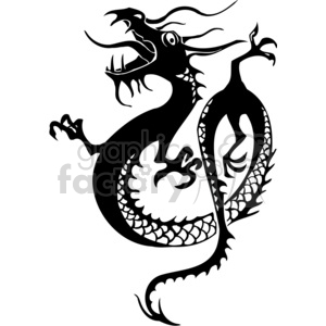 chinese dragons 048 clipart. Royalty-free image # 383868