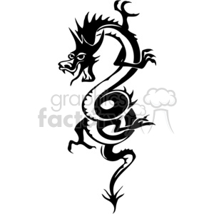 chinese dragons 032 clipart. Commercial use image # 383888