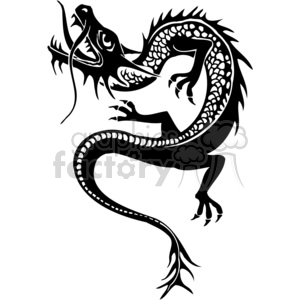chinese dragons 041 clipart. Royalty-free image # 383893