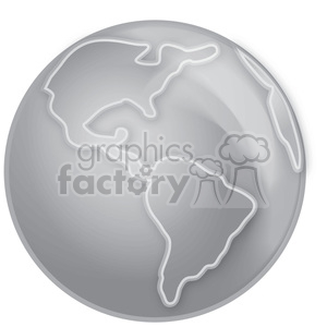 gray scale Earth clipart. Royalty-free image # 383911