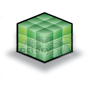 database-cube-green clipart. Commercial use image # 383916