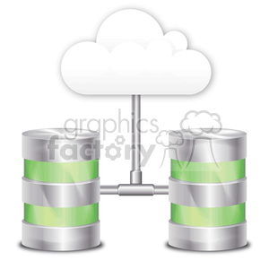 cloud data storage clipart. Royalty-free image # 383921
