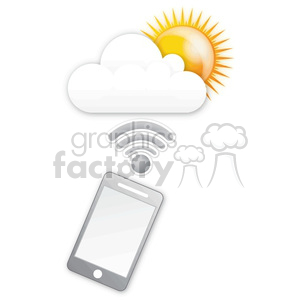 mobile sunny cloud data clipart. Commercial use image # 383926