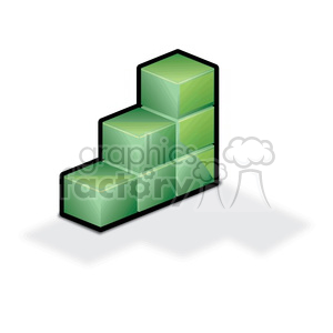 green graph cube clipart. Royalty-free image # 383931