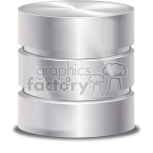 database silver symbol clipart. Royalty-free image # 383946