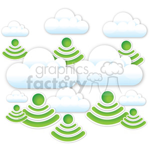 data rain clouds clipart. Royalty-free image # 383951