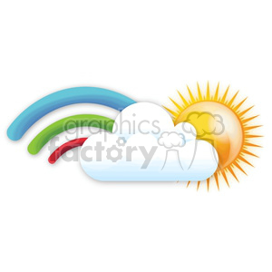 rainbow on a sunny day clipart. Commercial use image # 383961