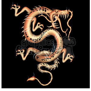 dragon facing right clipart. Commercial use image # 384101